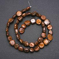 Бусины из натурального камня Бронзит галтовка d-7х9(+-)мм нитка L-38см