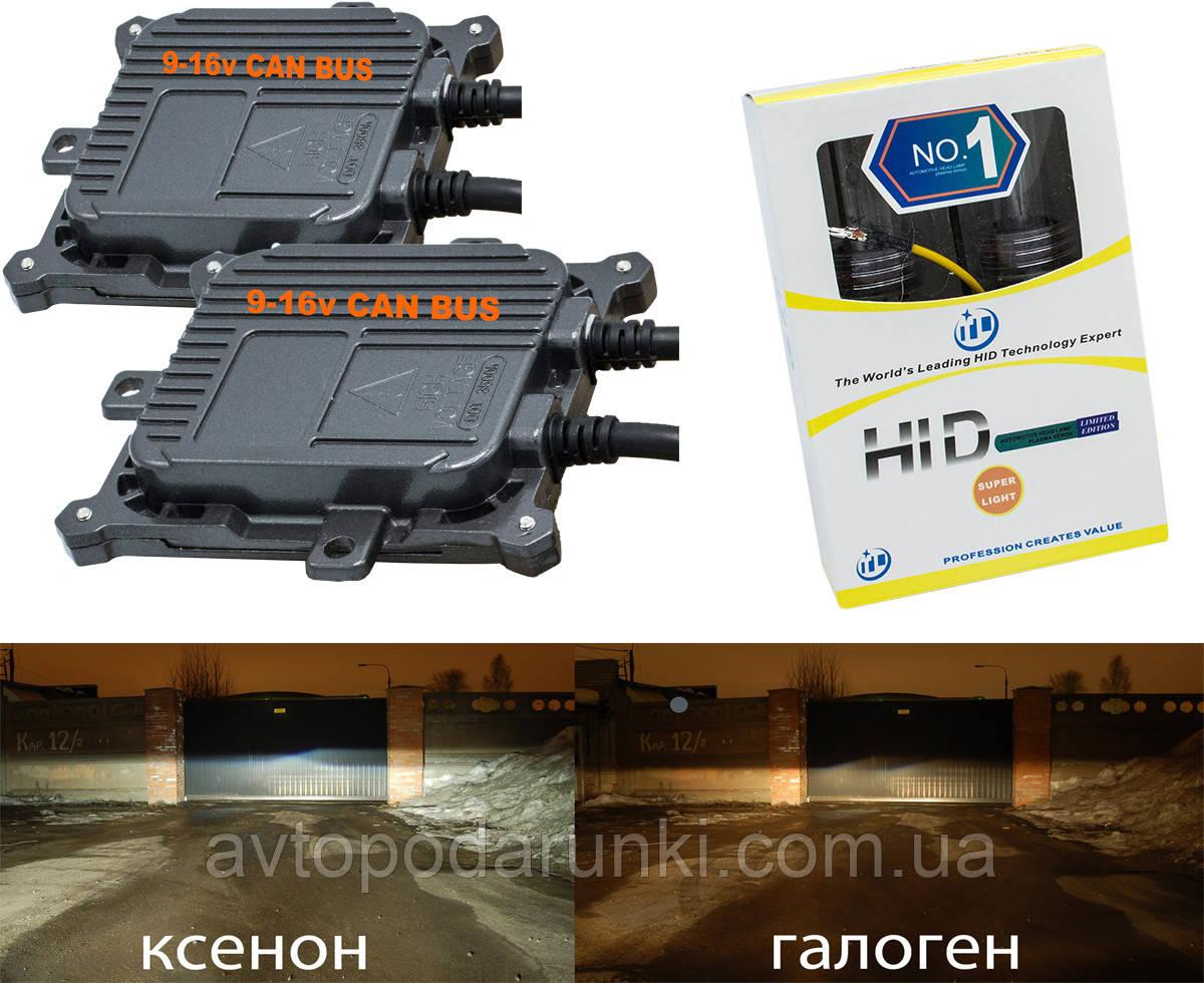 Комплект ксенона H1, H3, H7, H11, H27, HB3, HB4 с блоками  PREMIUM CAN BUS AC 9-16v быстрого розжга