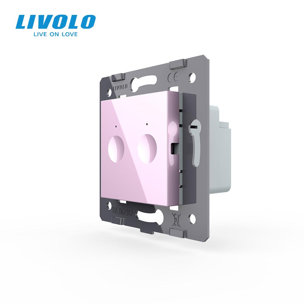 Механизм сенсорный выключатель Livolo Sense 2 канала розовый (782000217)