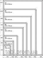 Рамка с 25-й click-системы А1 на стену с прямыми или круглыми углами