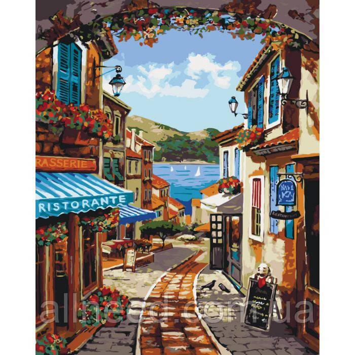"""Картина за номерами. Міський пейзаж """"Волшебноя вуличка"""" 40х50см * KHO2174"""