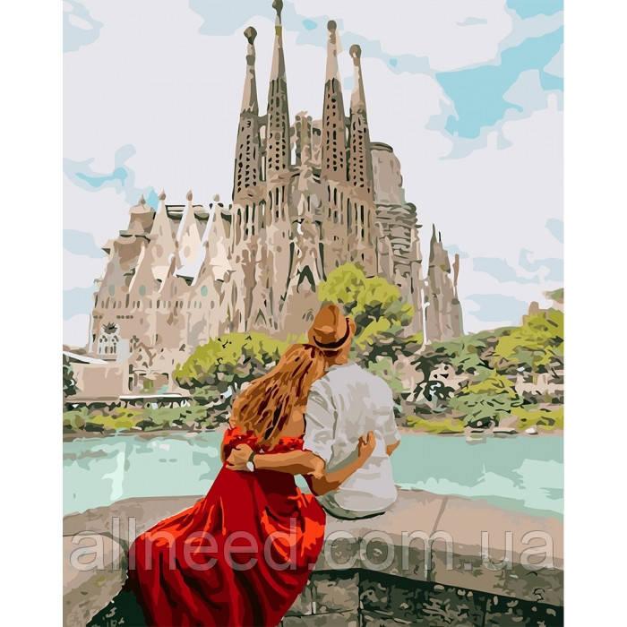 """Картина за номерами. """"Романтична Іспанія"""" 40*50см KHO4689"""