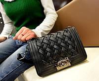 Женская сумка плетеный вверх