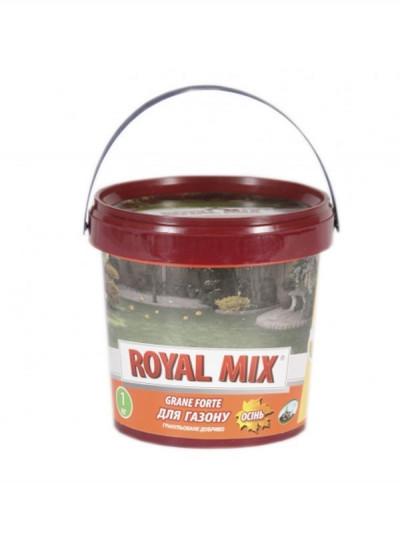 Добриво для газону осінь (відро) 1 кг, Royal mix