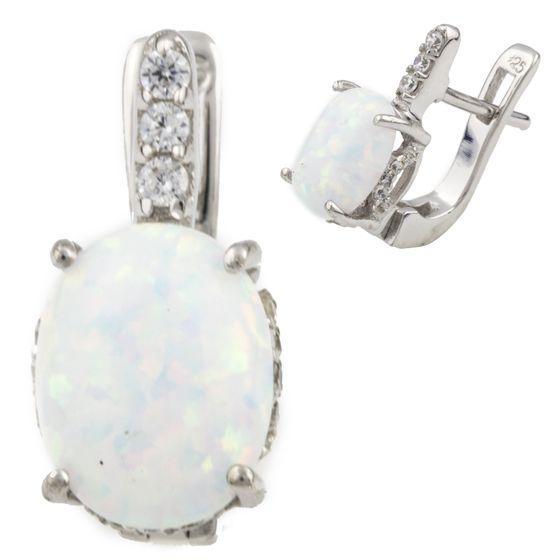 Серебряные серьги DreamJewelry с опалом 2.29ct (0474182)