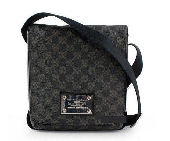 4c98aa6486ed Мужская сумка Louis Vuitton Brooklyn PM, damier graphite - VKstore в Киеве