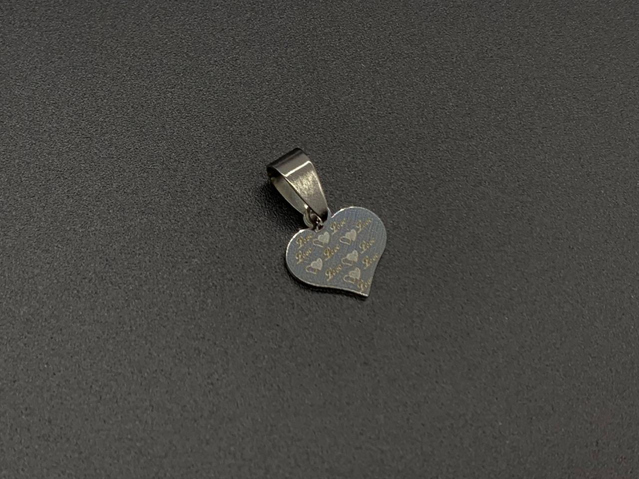 Подвески из нержавеющей стали. Сердце. 12х12мм