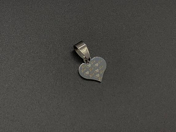 Подвески из нержавеющей стали. Сердце. 12х12мм, фото 2