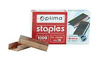 Скобы для степлера №10/5, медные О40353, 1000шт, Optima
