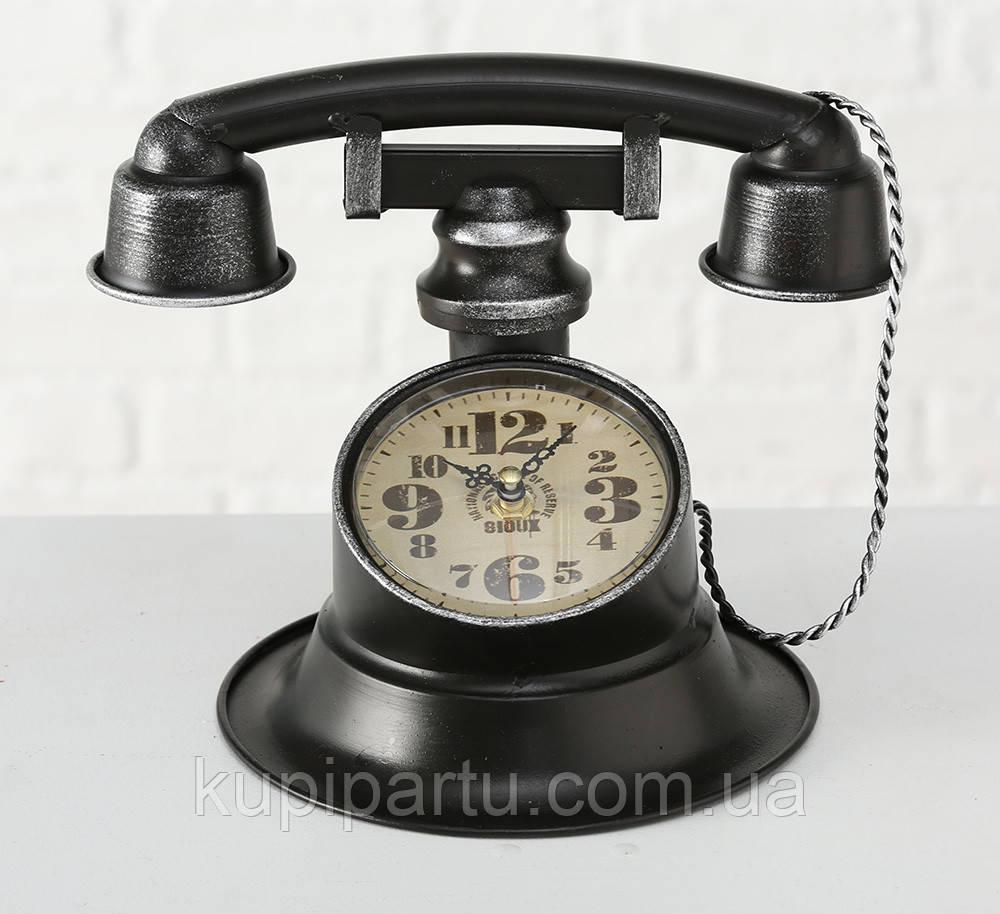 """Настольные часы """"Телефон Ретро"""" металл h21см Гранд Презент 1018097"""