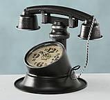 """Настольные часы """"Телефон Ретро"""" металл h21см Гранд Презент 1018097, фото 4"""