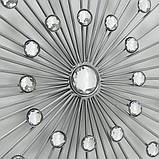 Настенный декор Звезда в Космосе d48см серебряный металл Boltze 1008945, фото 2