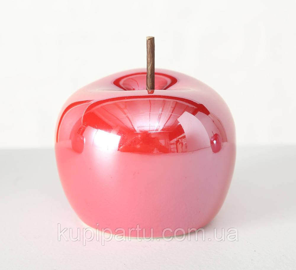 Декоративное яблоко керамика красный h8см Гранд Презент 1014898-2К