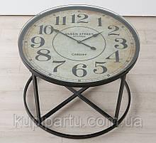 Столик кофейный Антик с часами h56см d80см Гранд Презент 2001158