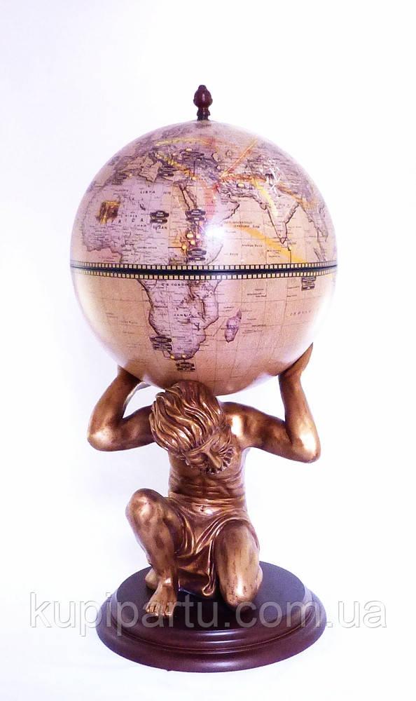 Глобус бар підлоговий «Atlas» — золотий Зодіак 42016N-GE