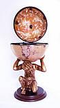 Глобус бар підлоговий «Atlas» — золотий Зодіак 42016N-GE, фото 2