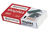 Скобы для степлера №24/6, заостренная О40356, 1000шт, Optima