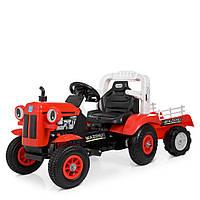 Електромобіль-Трактор з причепом Bambi M 4261ABLR-3 | Пульт 2.4 G, 2 мотора 25W, надувні колеса, MP3