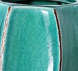 Ваза Хіларі кераміка бірюза һ25см 1021331, фото 3