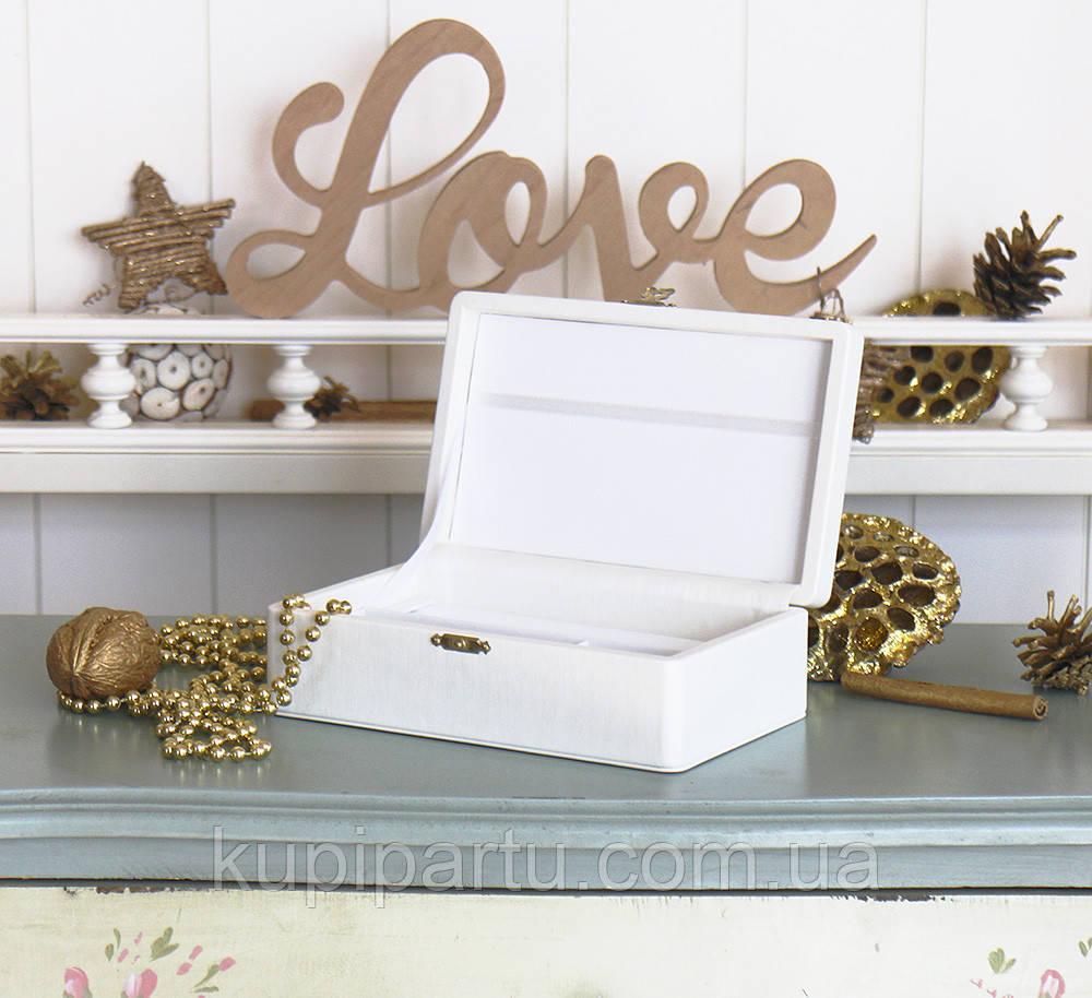 Шкатулка для хранения ювелирных украшений 17,8*11*6 Гранд Презент 603430 молочная