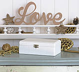 Шкатулка для хранения ювелирных украшений 17,8*11*6 Гранд Презент 603430 молочная, фото 3