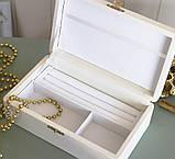 Шкатулка для хранения ювелирных украшений 17,8*11*6 Гранд Презент 603430 молочная, фото 4