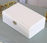 Шкатулка для хранения ювелирных украшений 17,8*11*6 Гранд Презент 603430 молочная, фото 5