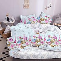 Комплект постільної білизни ТЕП Lovely Flower бязь 215-150 см блакитний