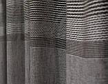 """Тюль лен полоска """"Пермиум"""". Цвет серо-коричневый.  Код 628т, фото 3"""
