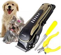 Профессиональная Машинка для Стрижки (Груминга) Кошек и Собак Gemei GM-6063 Сеть, Аккумулятор