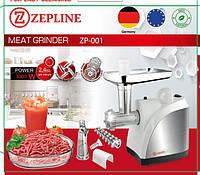 Электрическая мясорубка соковыжималка Zepline, электромясорубка с реверсом, бытовая техника, черный, белый