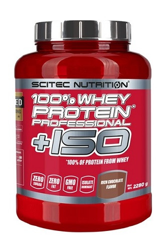 Ізолят сироваткового протеїну Scitec Nutrition 100% Whey Protein Professional +ISO 2.28 kg