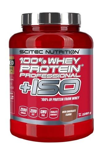 Изолят сывороточного протеина Scitec Nutrition 100% Whey Protein Professional +ISO 2.28 kg