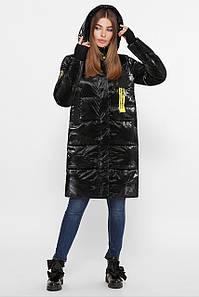 Куртка женская черный-желтый В-2103