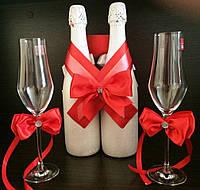 Лента на шампанское и бокалы