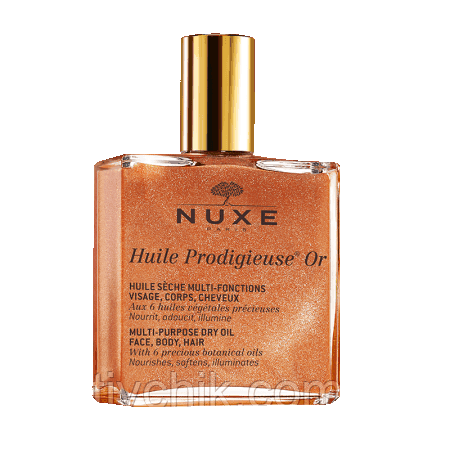 Сухое золотое масло Nuxe Prodigieuse Care Multi-Usage Dry Oil Golden Shimmer 50 мл