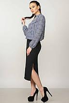 Шифоновая элегантная свободная женская блуза с воротником-галстуком (Кенди ri), фото 2