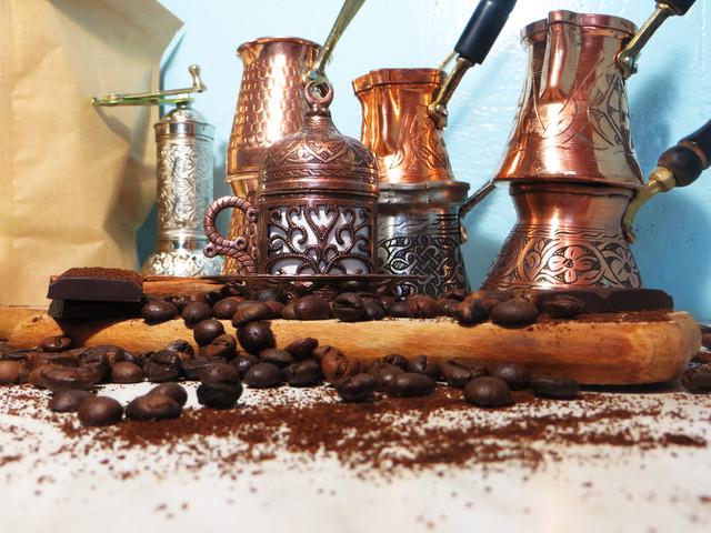 Турецкая кофейная посуда, кофемолки, перцемолки, турки...