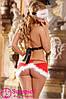 Эротический комплект костюм снегурочки O/S, красный, фото 2