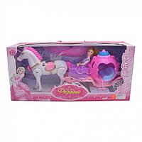 Карета 686-770/1 (Pink), Карета для детей,Набор литл пони,Карета с лошадью,Лошадка
