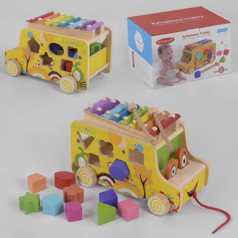 Деревянная логическая машина С 39203 (24) в коробке