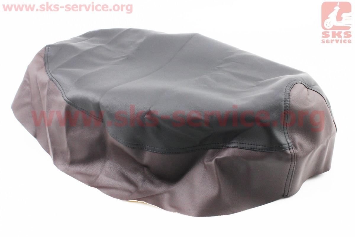 Чохол сидіння Honda DIO TACT AF24 (еластичний, міцний матеріал) чорний/коричневий на скутер