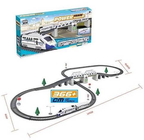 Железная дорога 2184 (12/2) свет, звук, длина путей 3.66 м, в коробке , фото 2