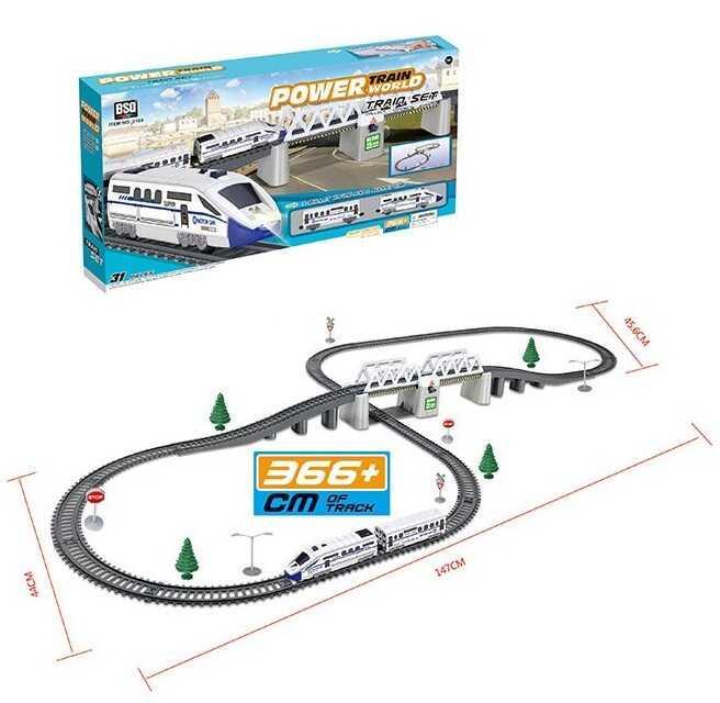 Железная дорога 2184 (12/2) свет, звук, длина путей 3.66 м, в коробке