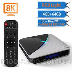 Смарт ТВ-приставка Transpeed A95X F3 Air 4/64Gb Smart TV + 3 місяці Sweet TV у подарунок