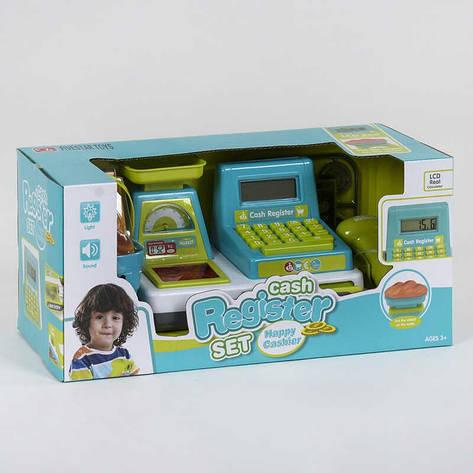 Кассовый аппарат 35533 А (24/2) световые и звуковые эффекты, сканер, корзинка с продуктами, в коробке, фото 2