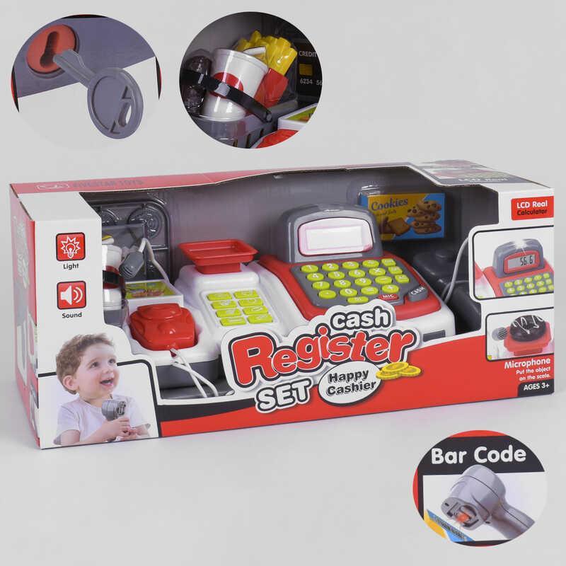 Кассовый аппарат 35536 B (12/2) свет, звук, встроенный калькулятор, микрофон, в коробке