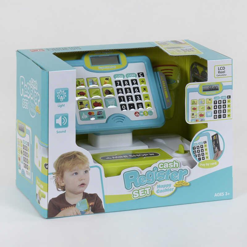 Кассовый аппарат 35558 А (6) свет, звук, микрофон, сканер, с аксессуарами, в коробке