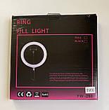 Кольцевая лампа Ø 25 см.(3 режима свечения) для штатива, фото 2