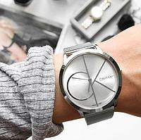 Женские серебряные металлические часы Calvin Klein CK, жіночий годинник Кельвин Кляин